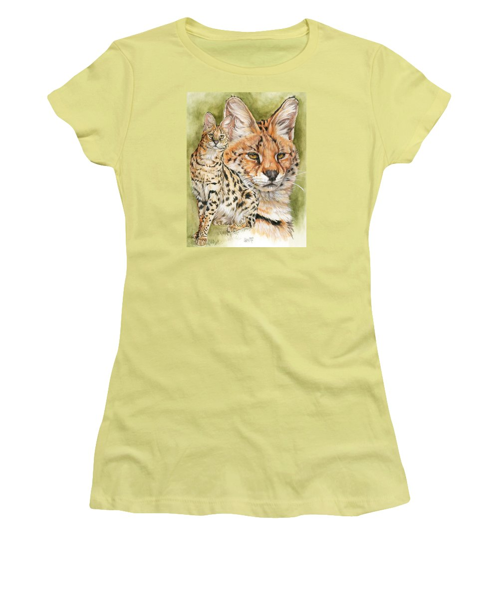 Serval Women's T-Shirt (Athletic Fit) featuring the mixed media Tempo by Barbara Keith