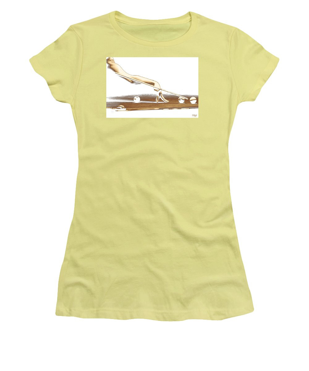 Abstract Women's T-Shirt (Athletic Fit) featuring the photograph The Hustler by Holly Kempe