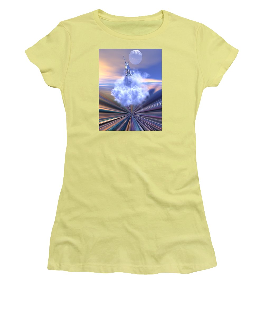 Bryce Women's T-Shirt (Athletic Fit) featuring the digital art The Last Of The Unicorns by Claude McCoy