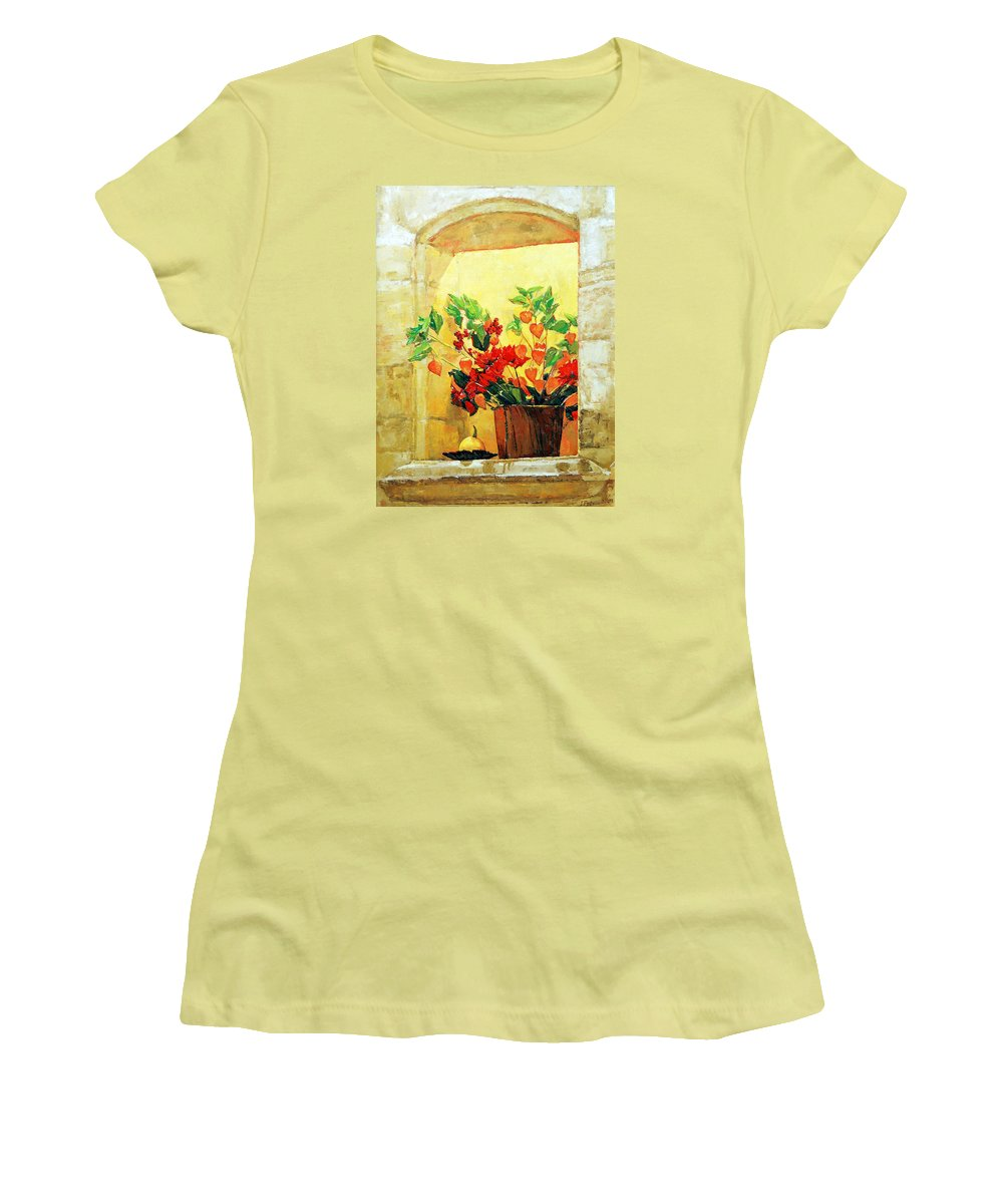 Still Life Women's T-Shirt (Athletic Fit) featuring the painting The Light by Iliyan Bozhanov