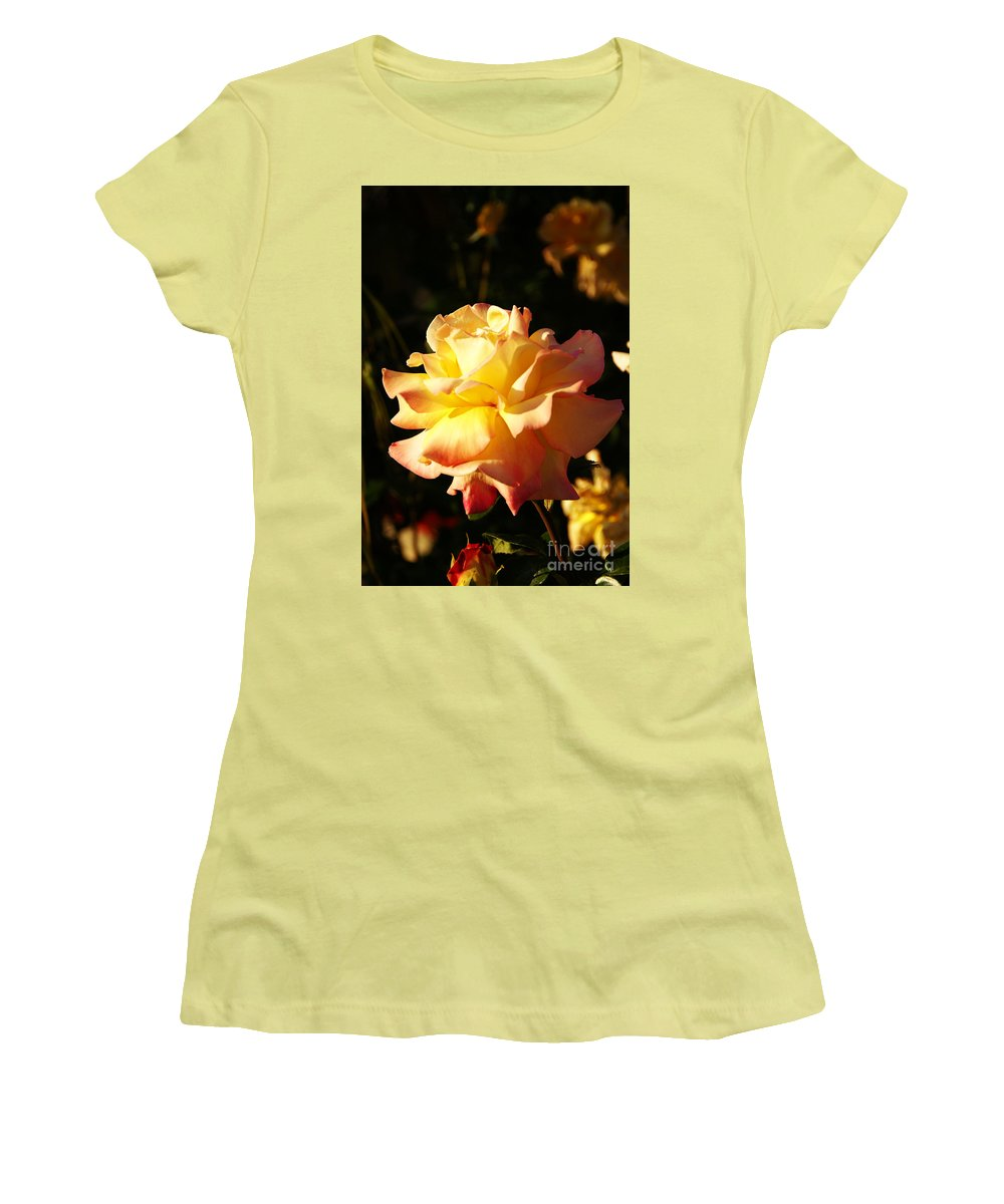 Rose Women's T-Shirt (Athletic Fit) featuring the photograph Together We Stand by Linda Shafer