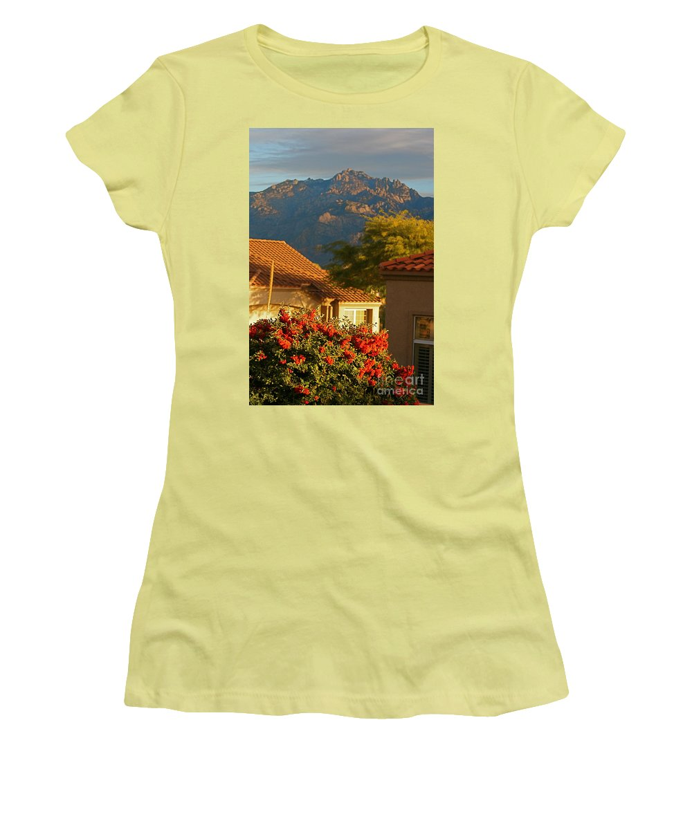 Mountains Women's T-Shirt (Athletic Fit) featuring the photograph Tucson Beauty by Nadine Rippelmeyer