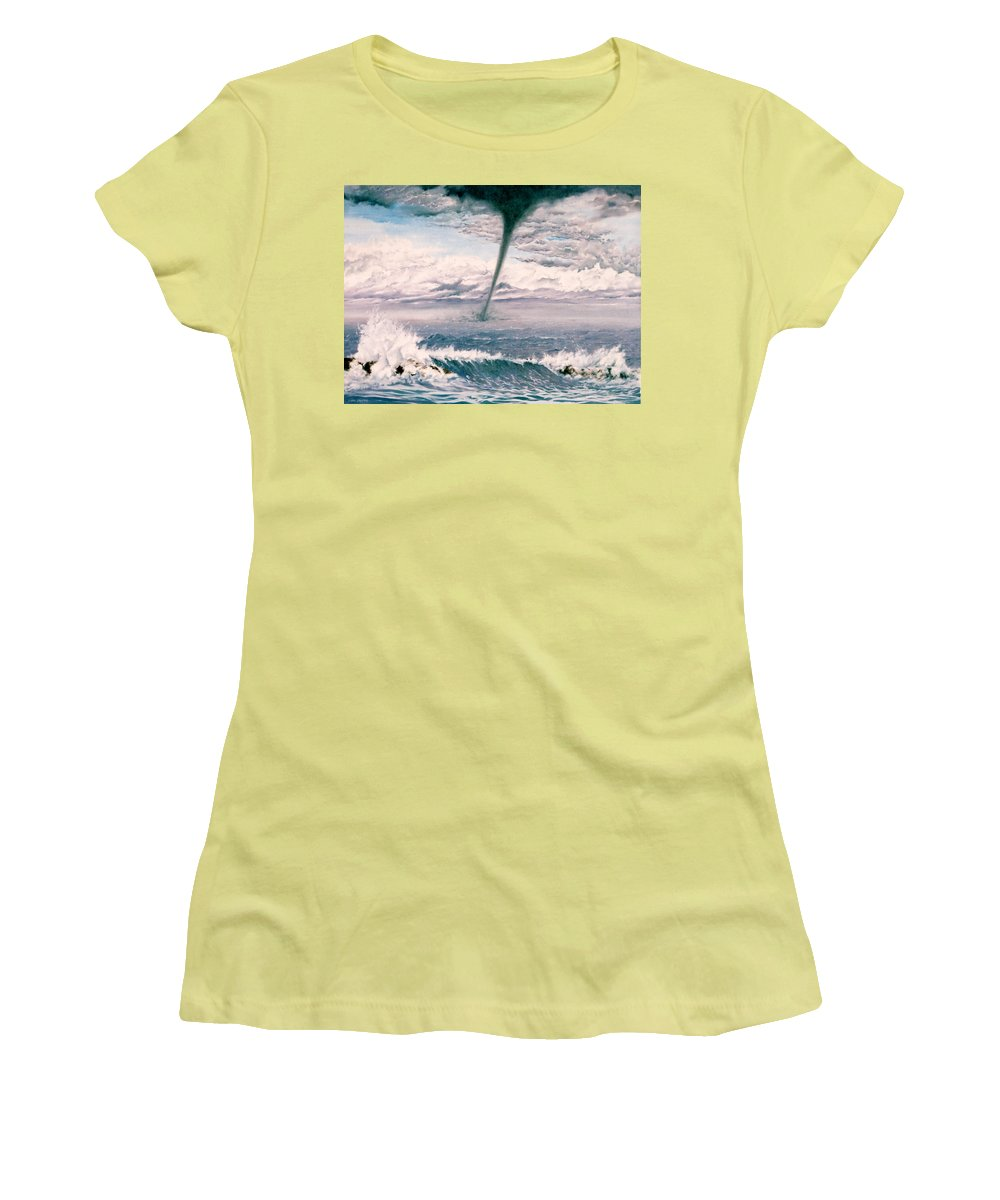 Seascape Women's T-Shirt (Athletic Fit) featuring the painting Twisted Nature by Mark Cawood