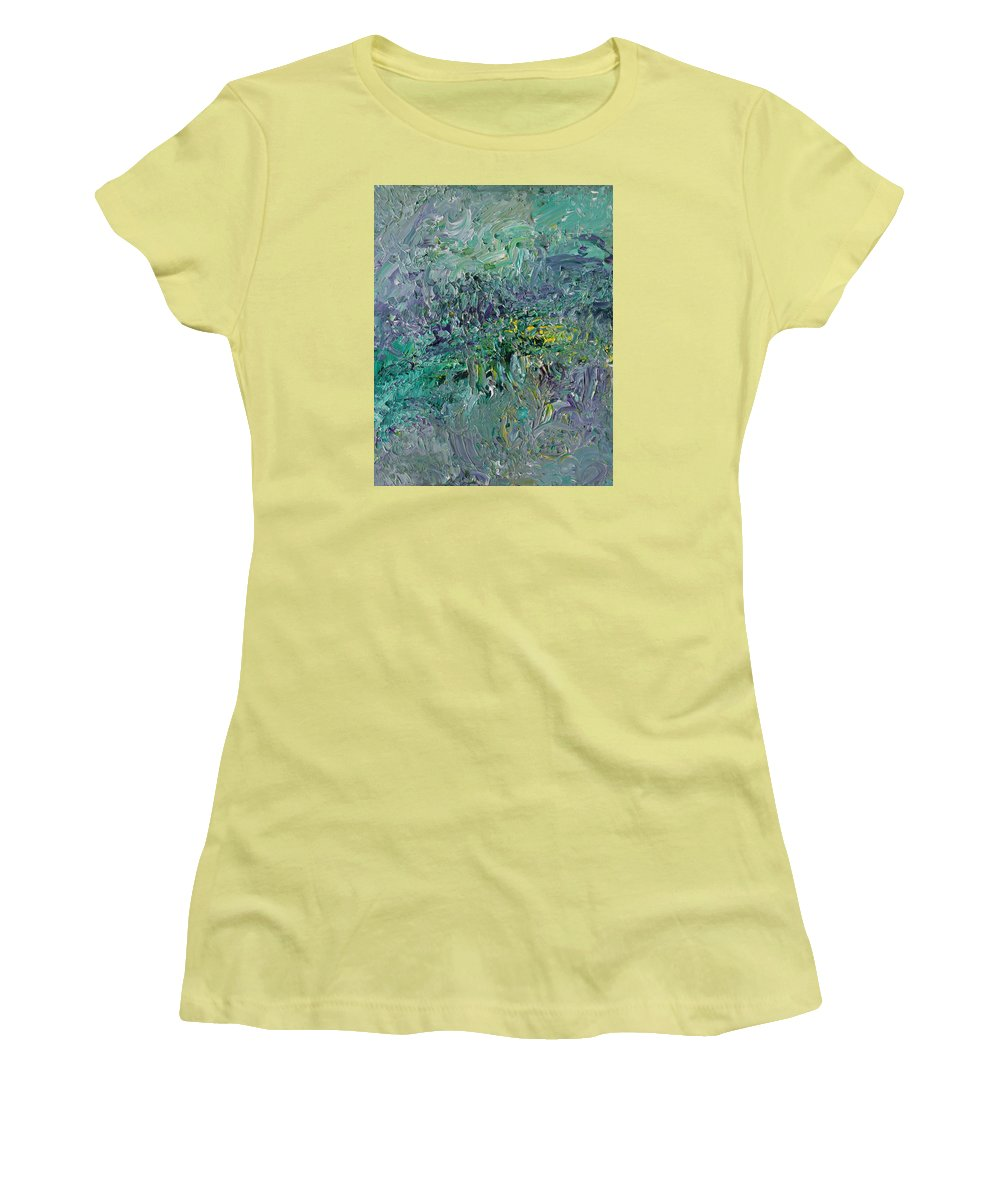 Fusionart Women's T-Shirt (Athletic Fit) featuring the painting Blind Giverny by Ralph White