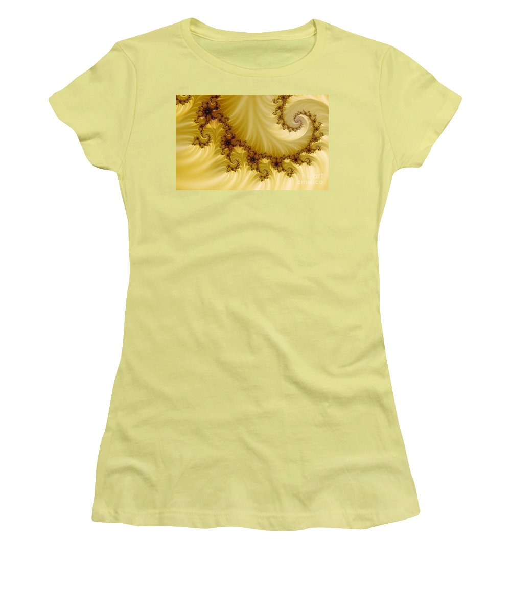 Clay Women's T-Shirt (Athletic Fit) featuring the digital art Valleys by Clayton Bruster