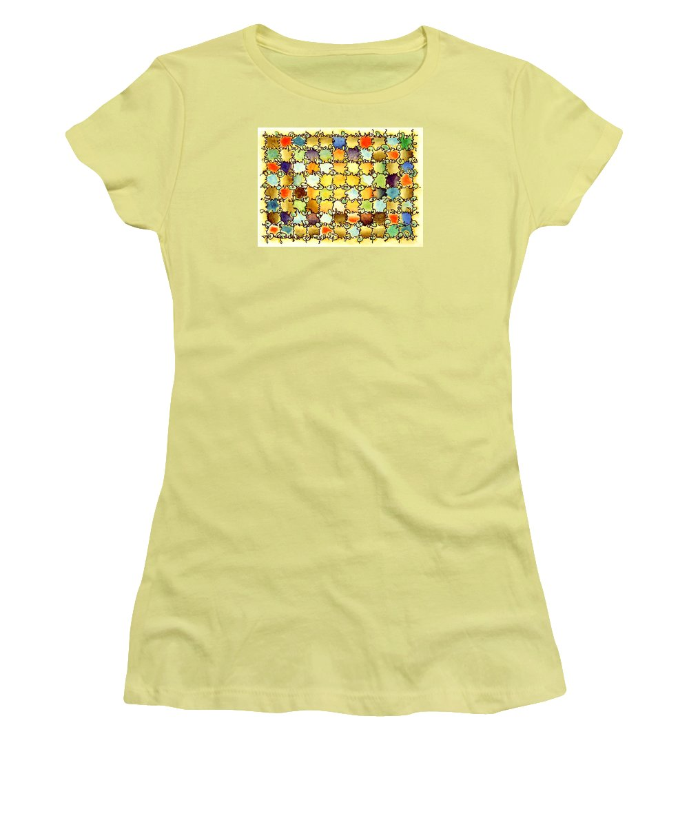Abstract Women's T-Shirt (Athletic Fit) featuring the painting Warm Light by Dave Martsolf