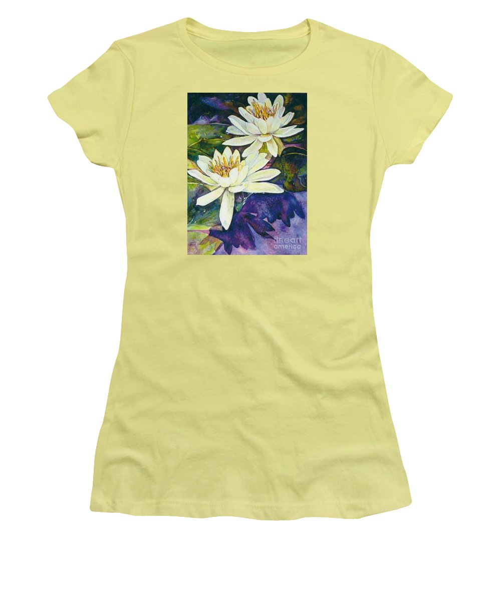 Flower Women's T-Shirt (Athletic Fit) featuring the painting Water Lilies by Norma Boeckler