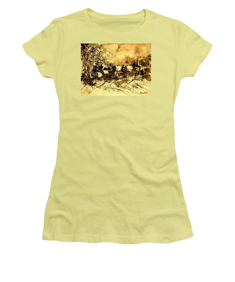 Women's T-Shirt (Athletic Fit) featuring the painting Watercolor 01 by Pol Ledent