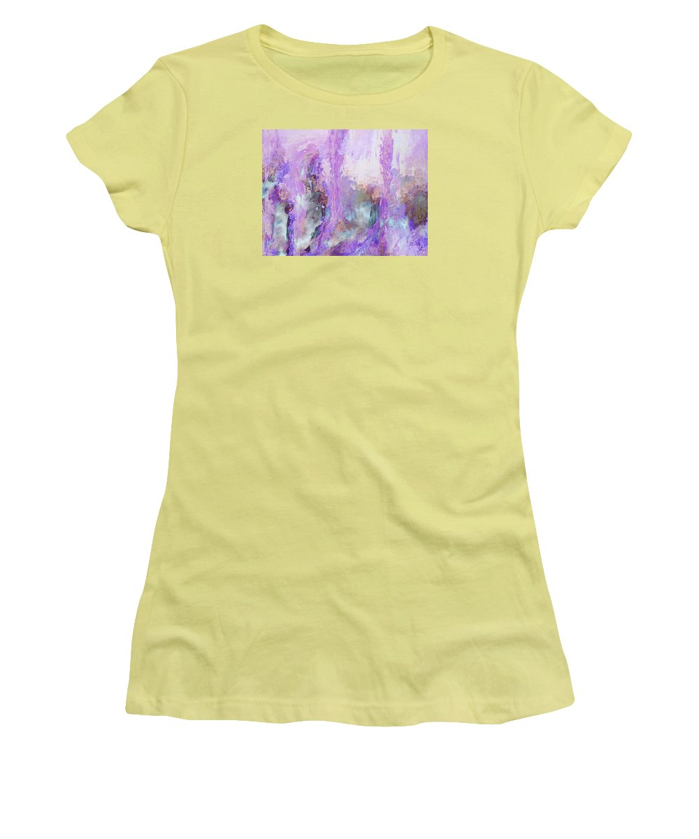 Abstract Art Women's T-Shirt (Athletic Fit) featuring the digital art Whisper Softly by Linda Murphy