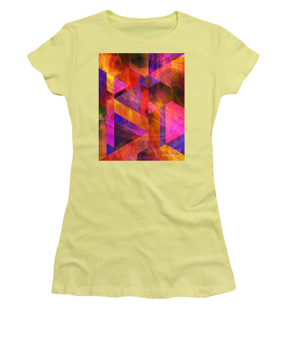 Wild Fire Women's T-Shirt (Athletic Fit) featuring the digital art Wild Fire by John Beck