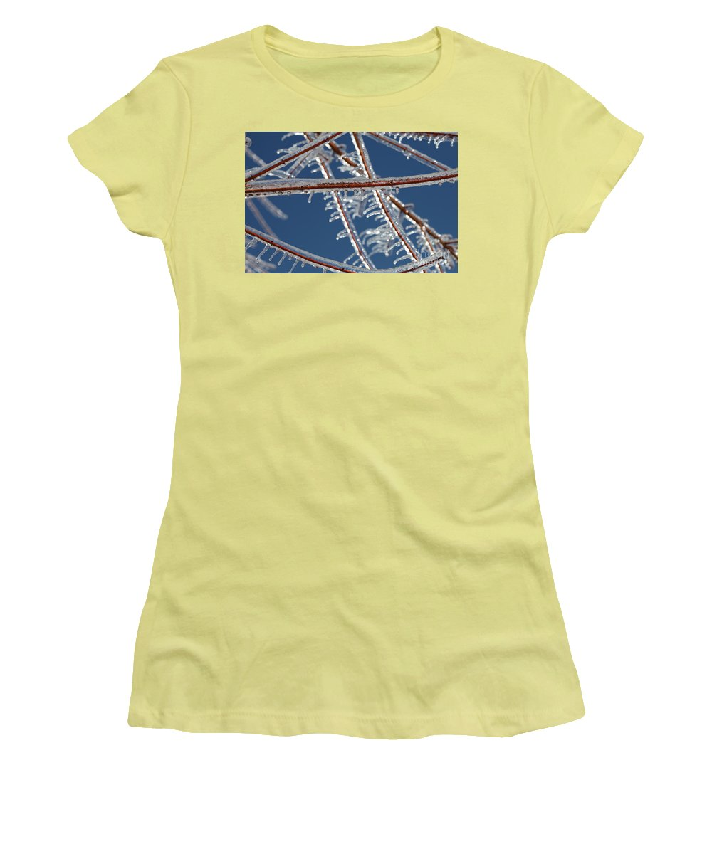 Winter Women's T-Shirt (Athletic Fit) featuring the photograph Winter Blue by Nadine Rippelmeyer