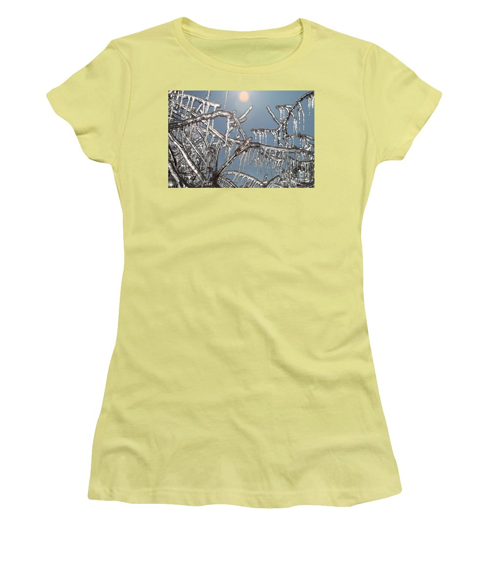 Winter Women's T-Shirt (Athletic Fit) featuring the photograph Winter Warmth by Nadine Rippelmeyer