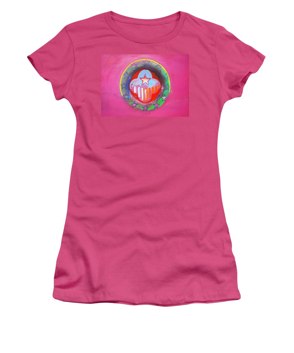 Symbol Women's T-Shirt (Athletic Fit) featuring the painting Monetary Union by Charles Stuart