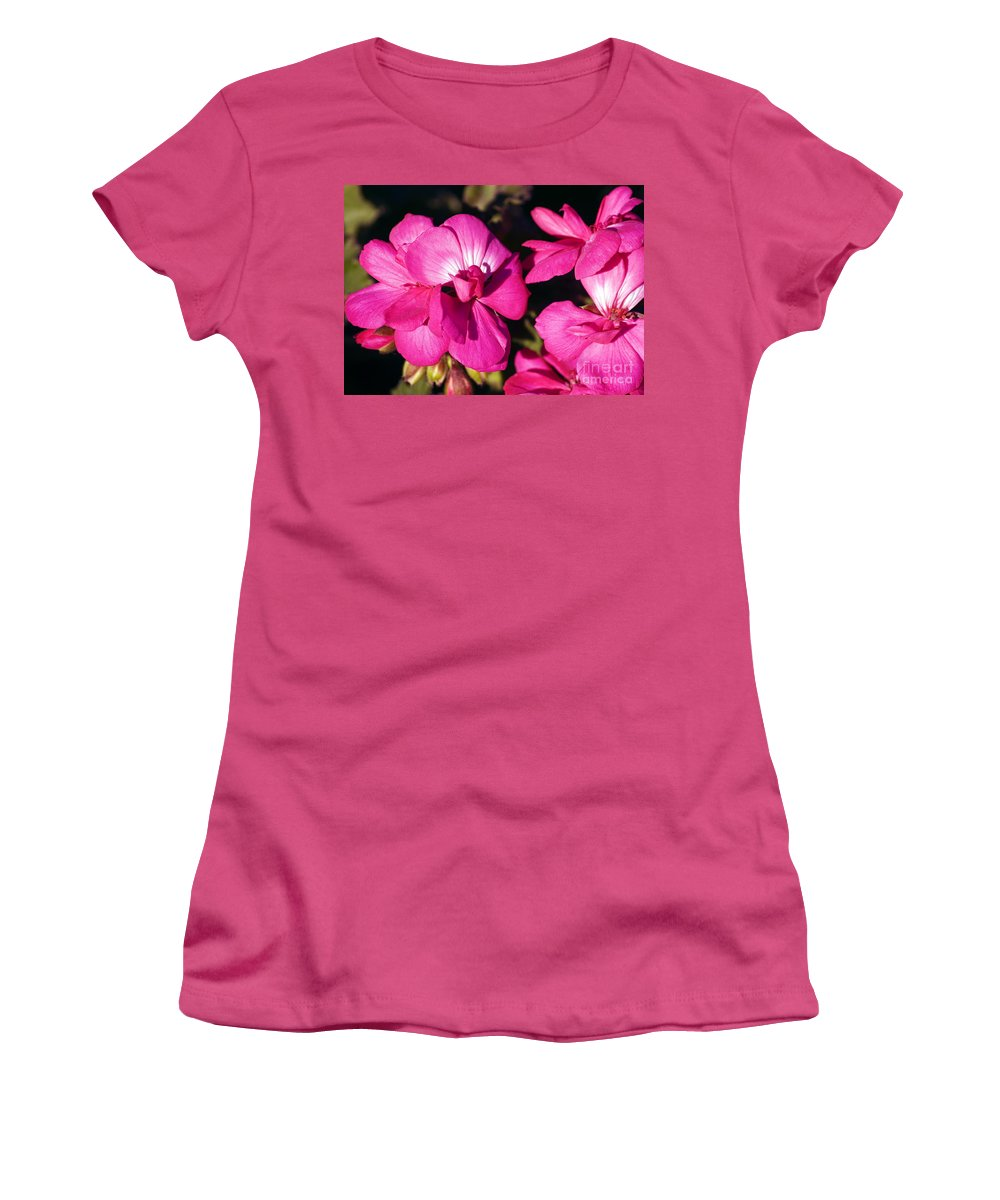 Clay Women's T-Shirt (Athletic Fit) featuring the photograph Pink Spring Florals by Clayton Bruster