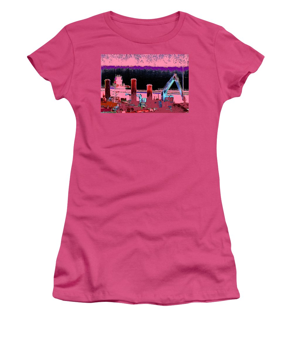 Abstract Women's T-Shirt (Athletic Fit) featuring the photograph Pretty In Pink by Rachel Christine Nowicki
