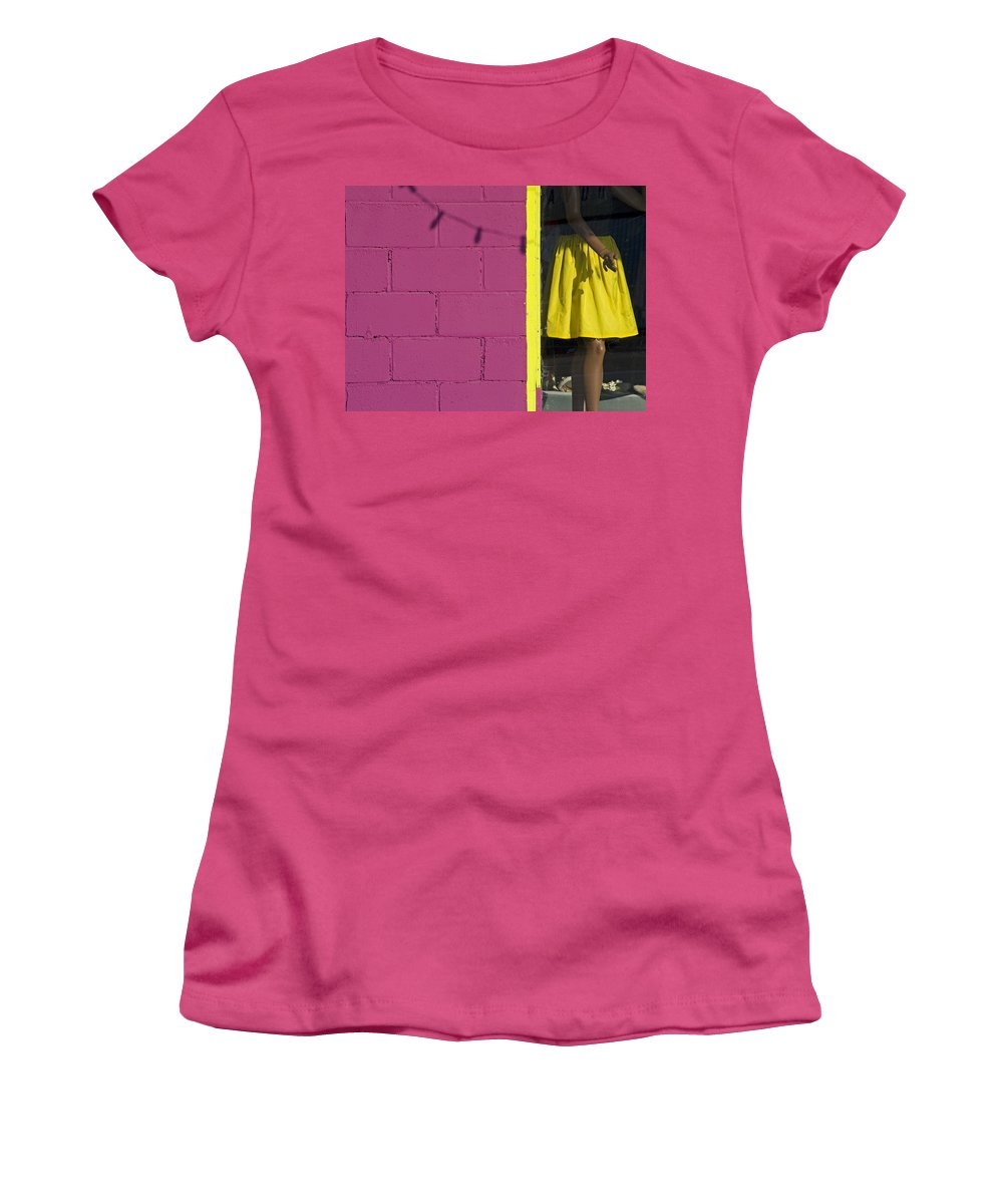 Woman Women's T-Shirt (Athletic Fit) featuring the photograph Waiting by Skip Hunt
