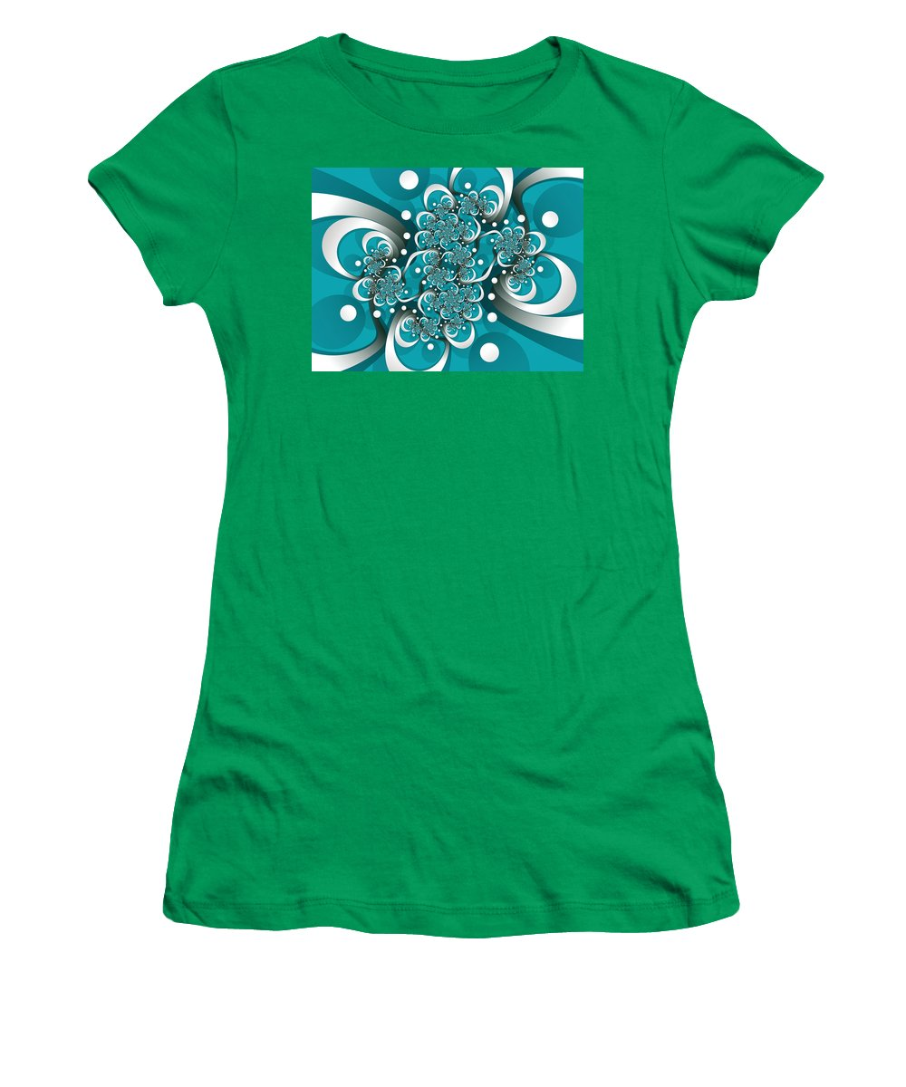Digital Art Women's T-Shirt (Athletic Fit) featuring the digital art Playful by Gabiw Art