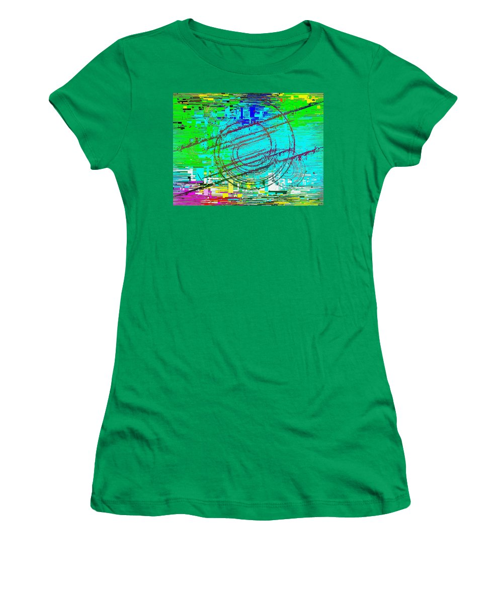 Abstract Women's T-Shirt featuring the digital art Abstract Cubed 41 by Tim Allen