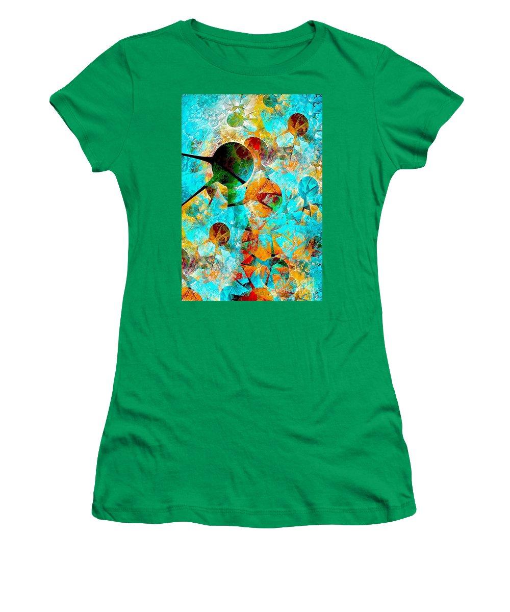 Aquarium Women's T-Shirt featuring the painting Aquarium 612-12-13 Marucii by Marek Lutek