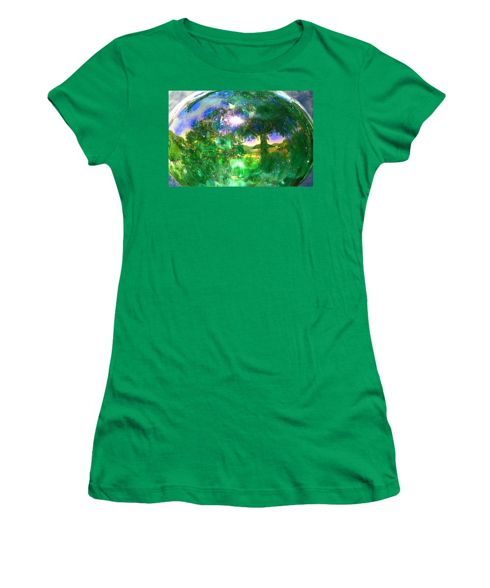 Eden Women's T-Shirt (Athletic Fit) featuring the digital art Eden by Lisa Yount