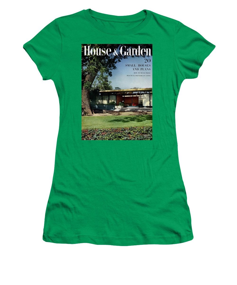House & Garden Women's T-Shirt featuring the photograph House & Garden Cover Of The Kurt Appert House by Ernest Braun