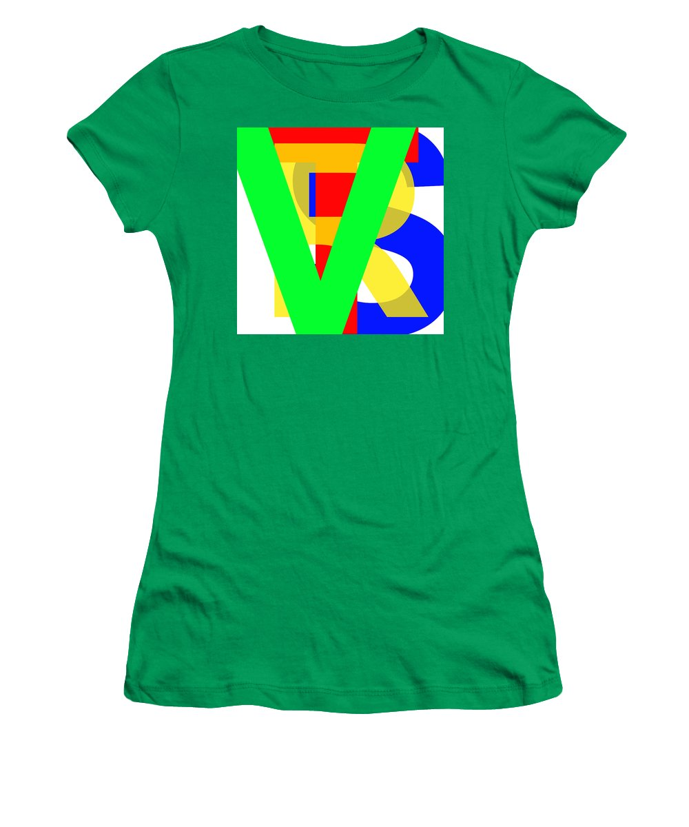 Love Women's T-Shirt featuring the digital art Love More Hate Less Part Three by Jan Raphael