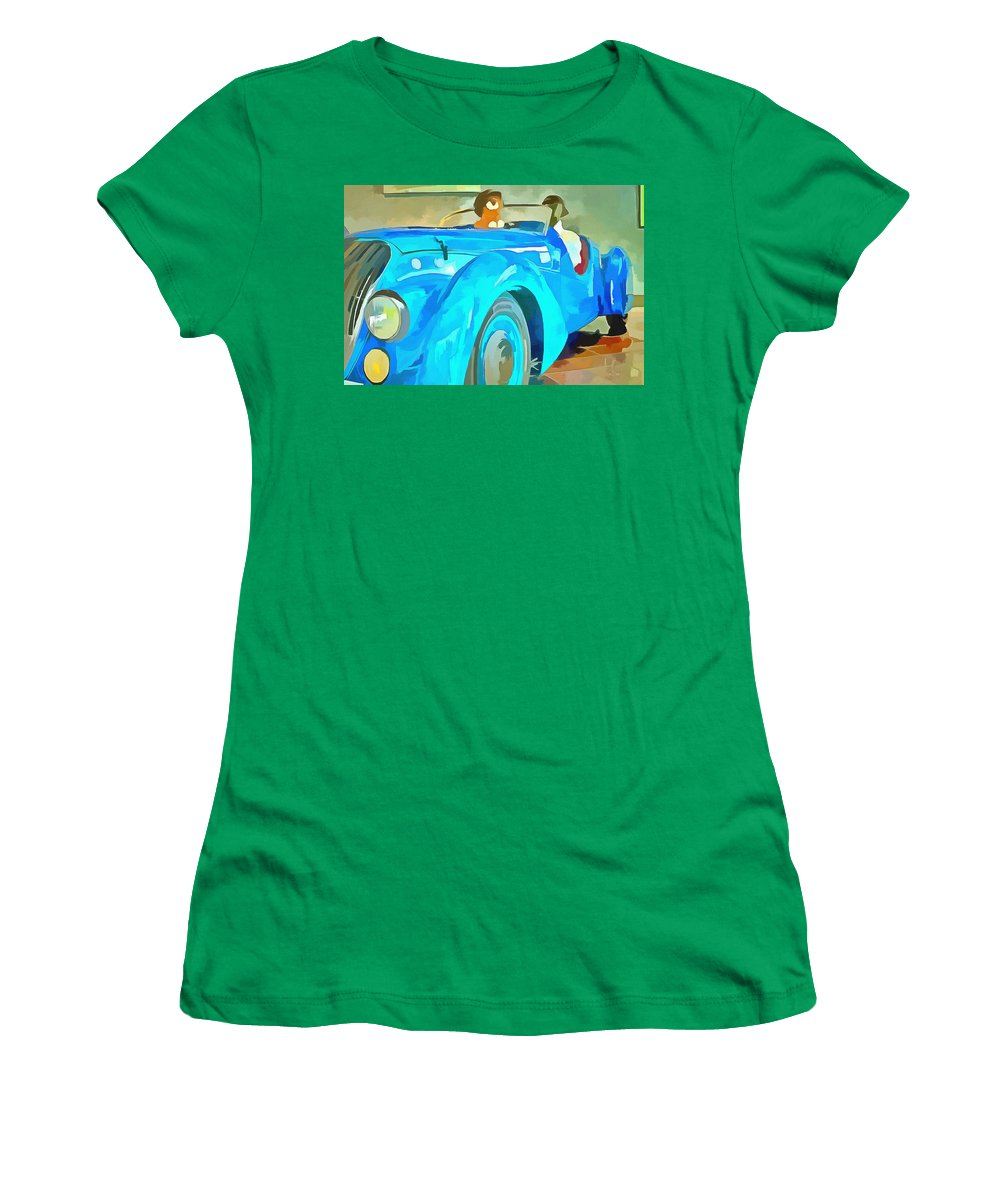 Peugeot Darl'mat Women's T-Shirt featuring the painting Peugeot Darl'mat by L Wright