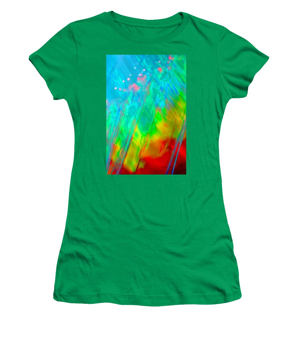 Abstract Women's T-Shirt featuring the photograph Stir It Up by Dazzle Zazz