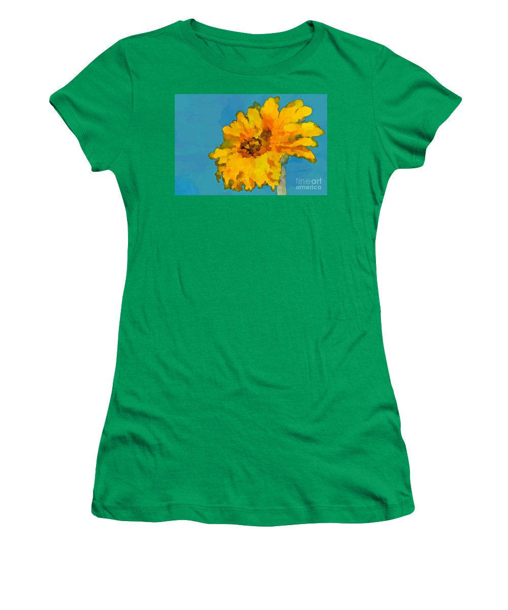 Sunflower Women's T-Shirt featuring the photograph Sunflower Illusion by Gwyn Newcombe