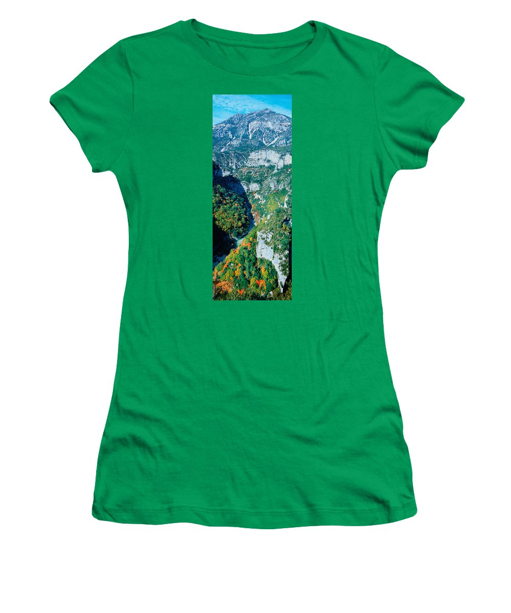 Photography Women's T-Shirt featuring the photograph Verdon Gorge In Autumn by Panoramic Images