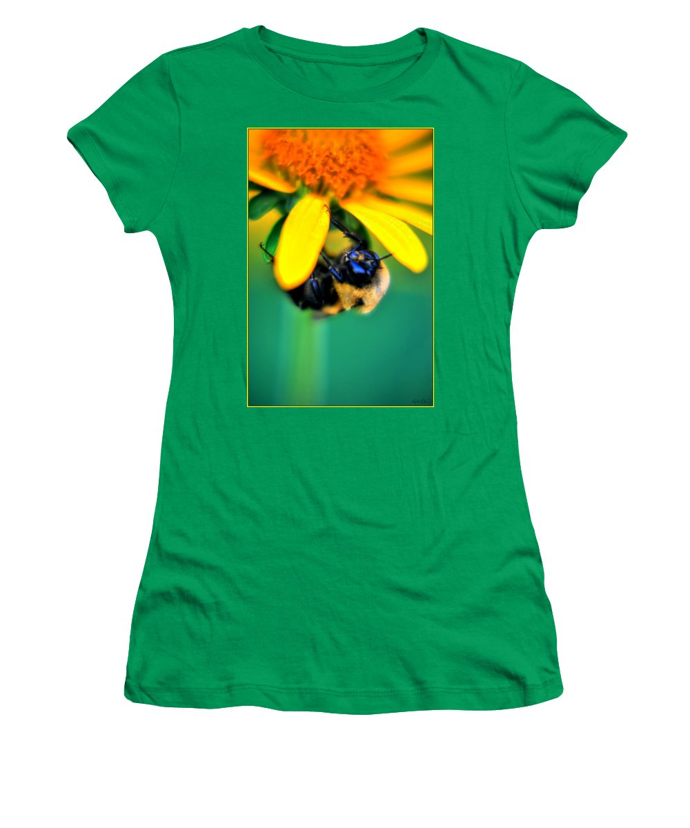 Women's T-Shirt featuring the photograph 003 Sleeping Bee Series by Michael Frank Jr