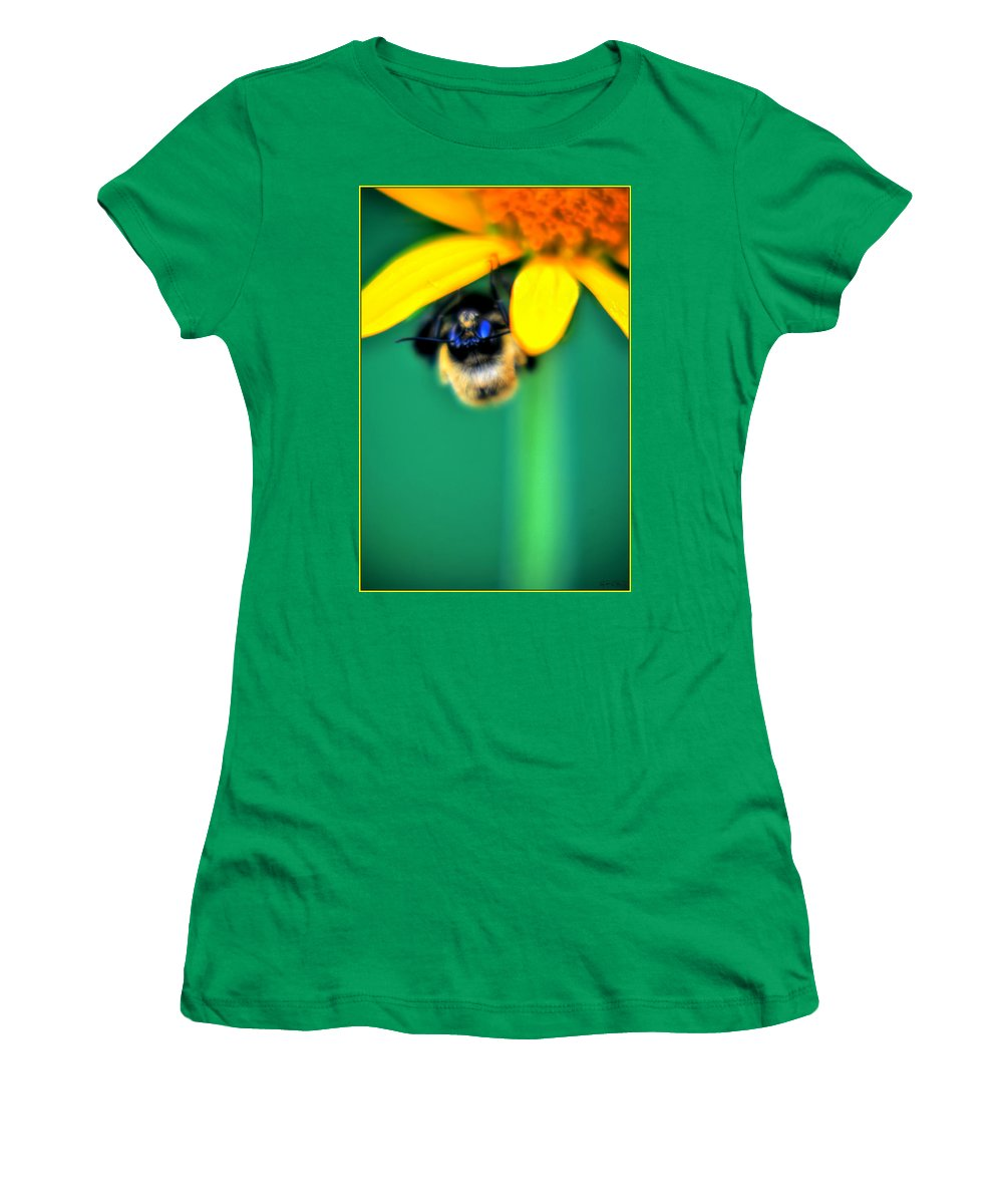 Women's T-Shirt featuring the photograph 004 Sleeping Bee Series by Michael Frank Jr