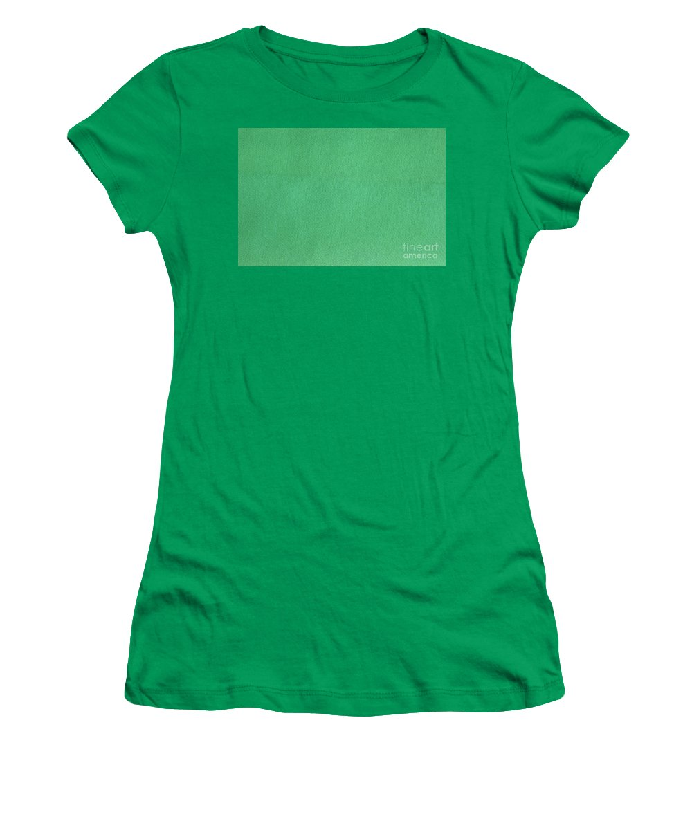 Background Women's T-Shirt featuring the photograph Green Textile by Henrik Lehnerer