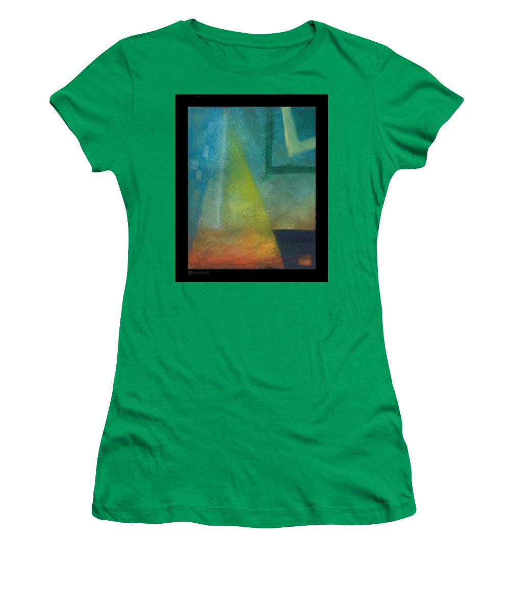 Sunset Women's T-Shirt (Athletic Fit) featuring the painting Sunset Sail by Tim Nyberg
