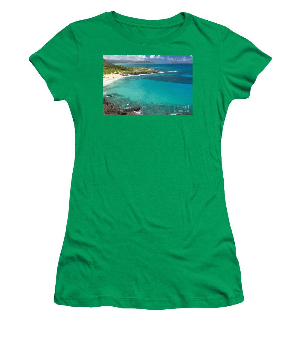 Beach Women's T-Shirt featuring the photograph Waimanalo Coast by Tomas del Amo - Printscapes