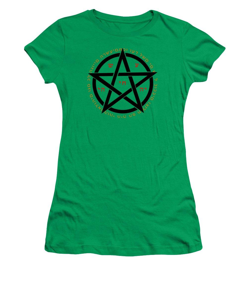 Green Women's T-Shirt featuring the digital art Witchcraft Concept by Ilan Rosen