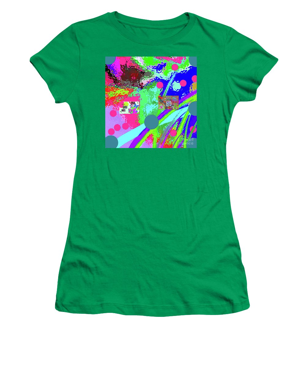 Walter Paul Bebirian Women's T-Shirt featuring the digital art 3-13-2015labcdefghijklmnopqrtuvwxyzabcdefghijklm by Walter Paul Bebirian