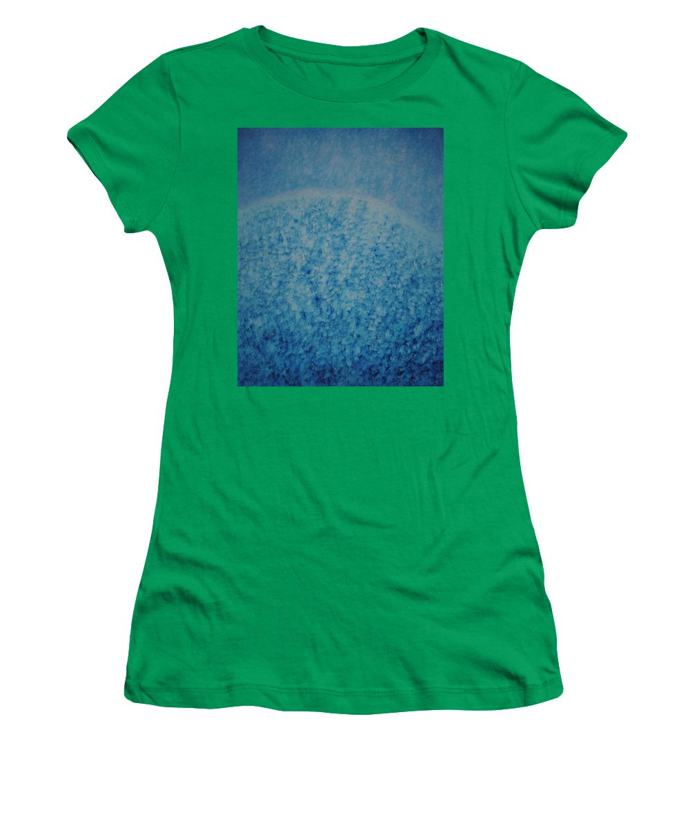 Inspirational Women's T-Shirt featuring the painting Calm Mind by Kyung Hee Hogg