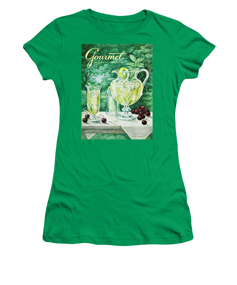 Food Women's T-Shirt featuring the photograph A Gourmet Cover Of Glassware by Hilary Knight