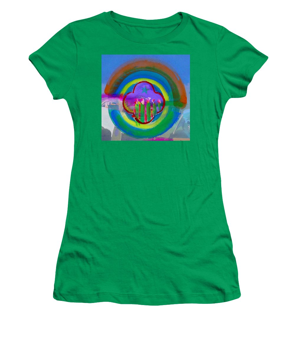 Love Women's T-Shirt (Athletic Fit) featuring the painting American Spring by Charles Stuart