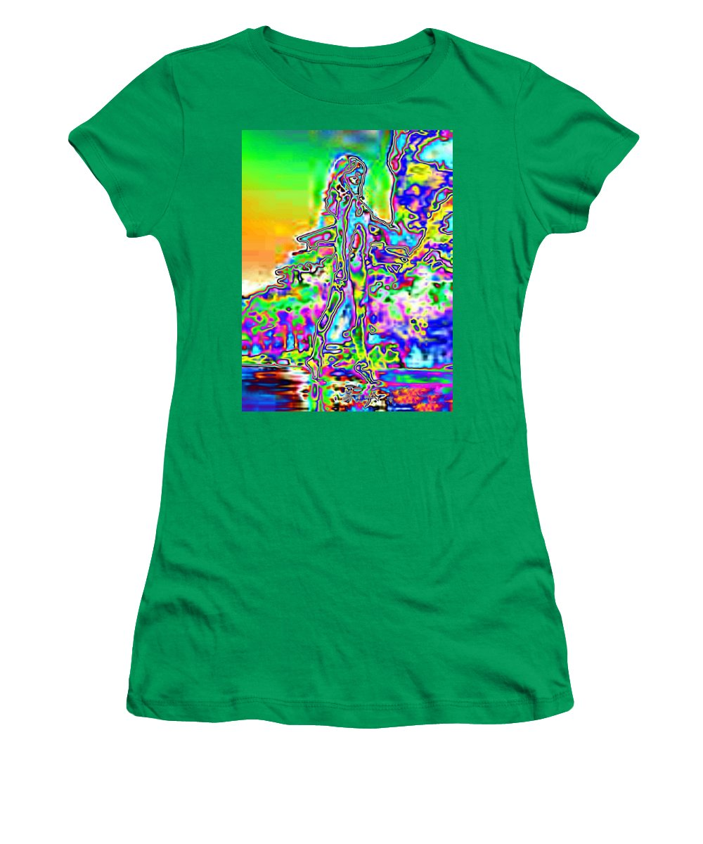 Bather Women's T-Shirt (Athletic Fit) featuring the photograph Bathing Beauty by Tim Allen