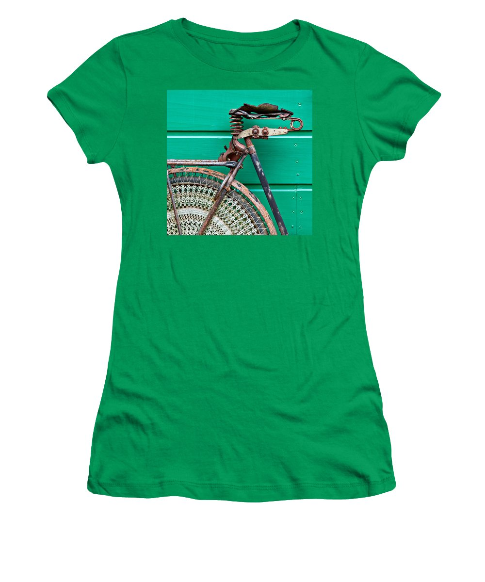 Bike Women's T-Shirt (Athletic Fit) featuring the photograph Better Days by Dave Bowman