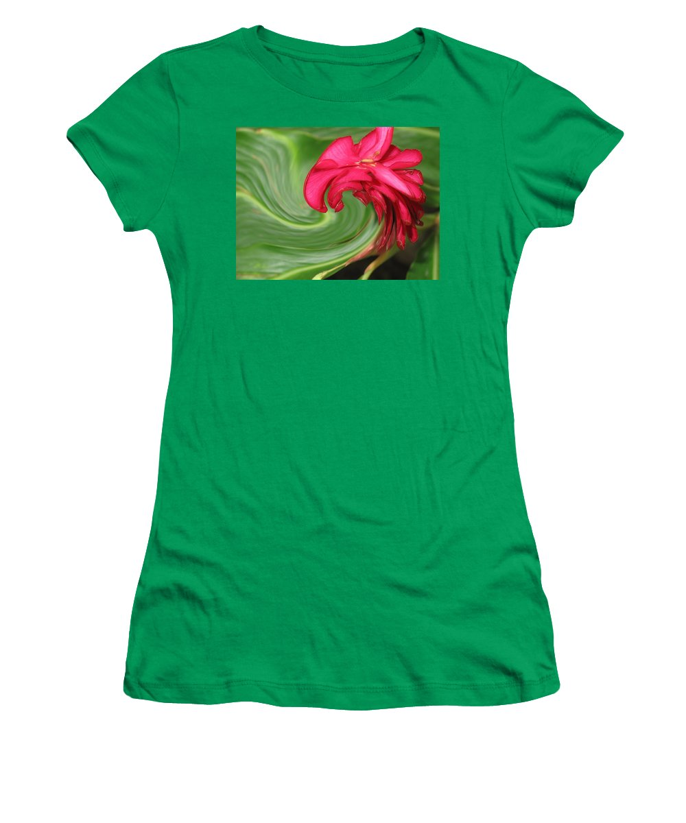 Flower Women's T-Shirt (Athletic Fit) featuring the photograph Come To Me by Ian MacDonald