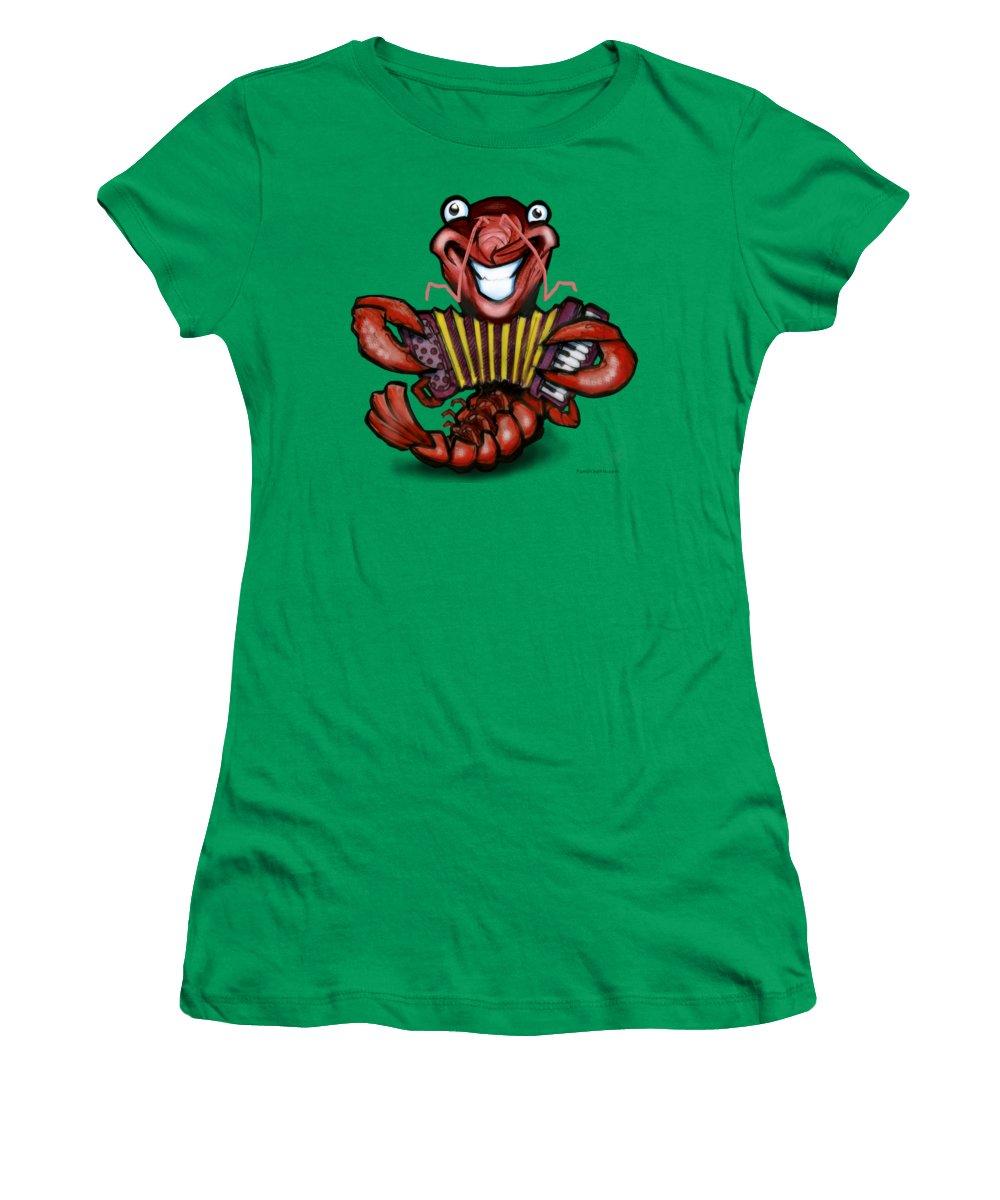 Crawfish Women's T-Shirt featuring the digital art Crawfish by Kevin Middleton
