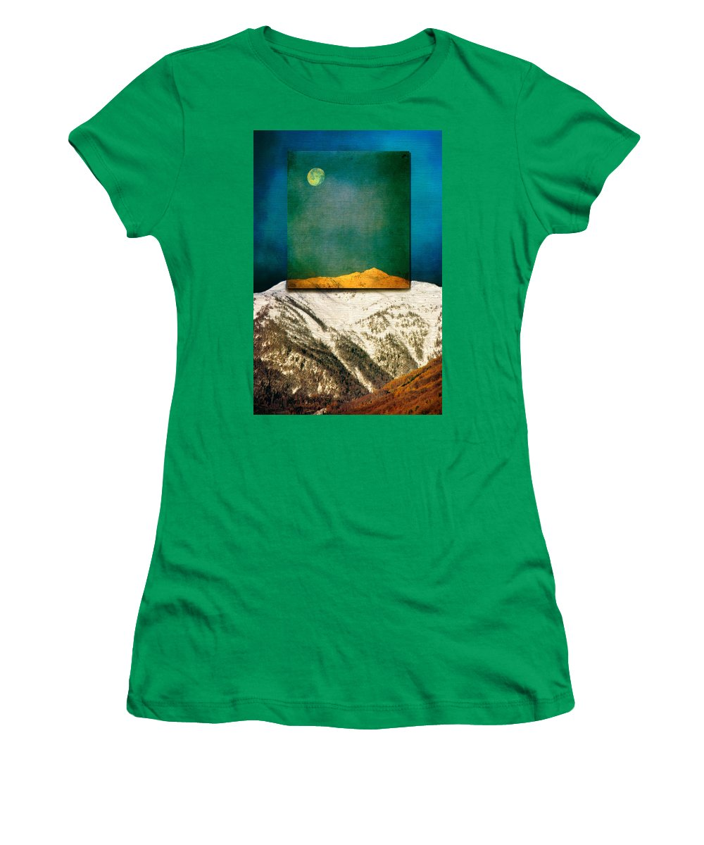 Moon Women's T-Shirt (Athletic Fit) featuring the photograph Full Moon by Silvia Ganora