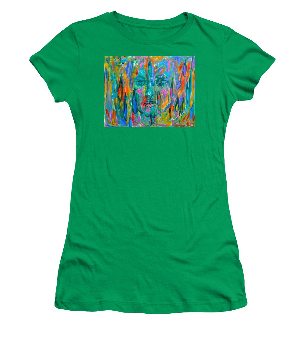 Face Women's T-Shirt featuring the painting Ghost Tears by Kendall Kessler
