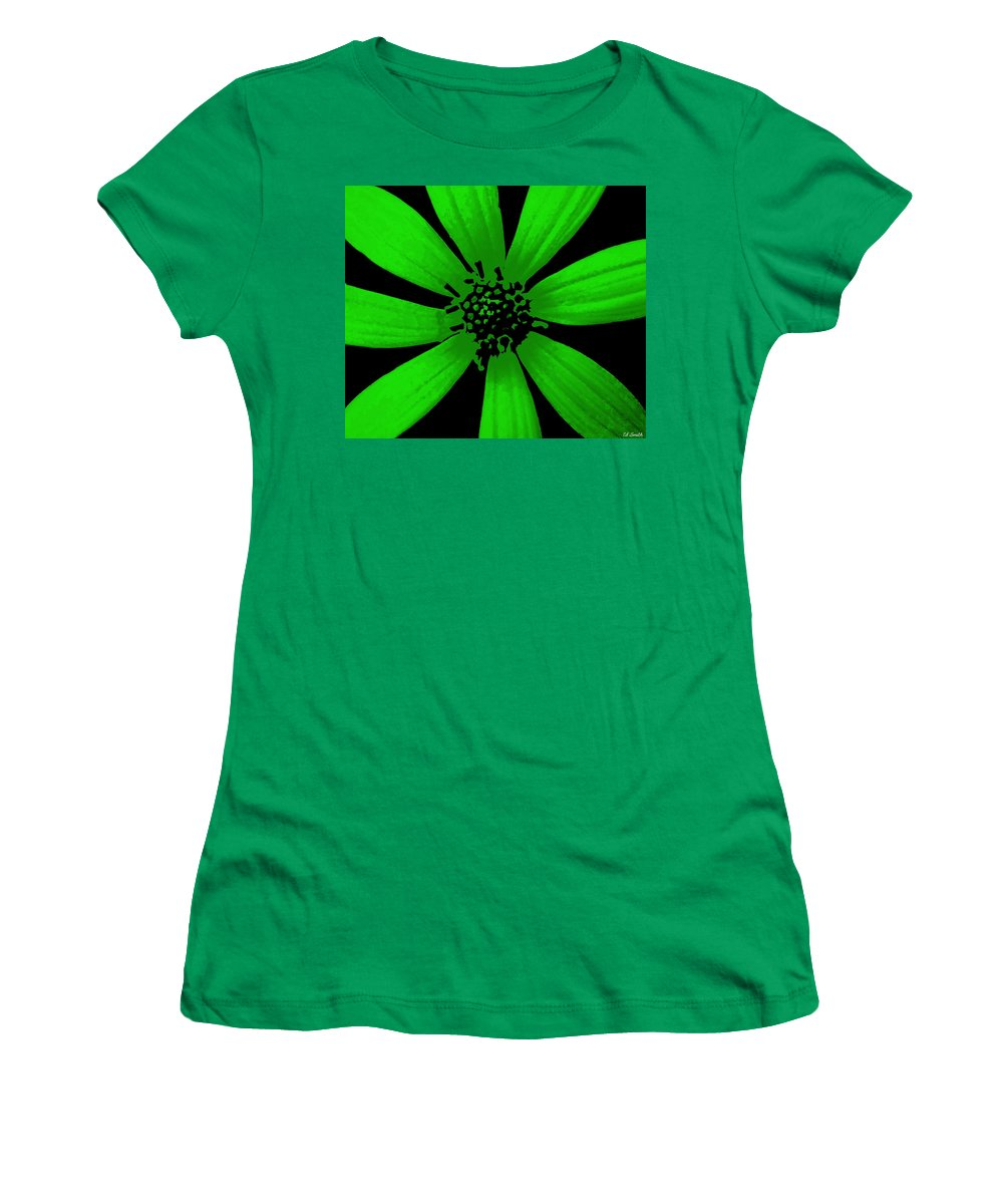 Still Life Women's T-Shirt (Athletic Fit) featuring the photograph Gorgeous Green by Ed Smith