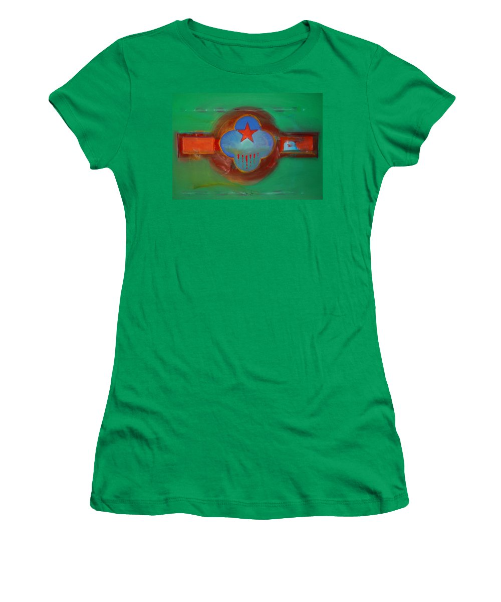 Star Women's T-Shirt (Athletic Fit) featuring the painting Grand Canal by Charles Stuart