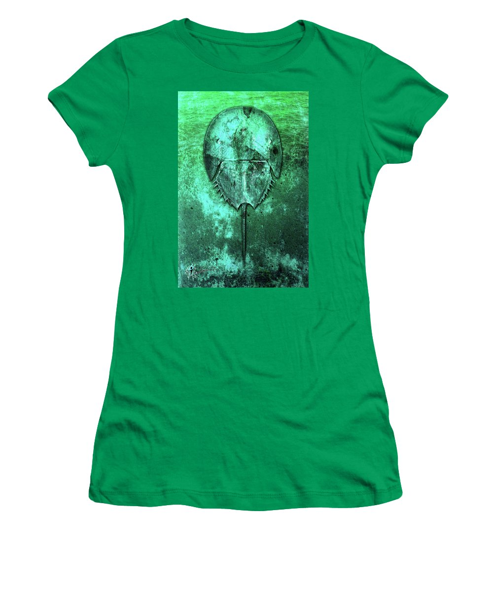Cars Women's T-Shirt (Athletic Fit) featuring the digital art Horseshoe Crab by Doug Schramm