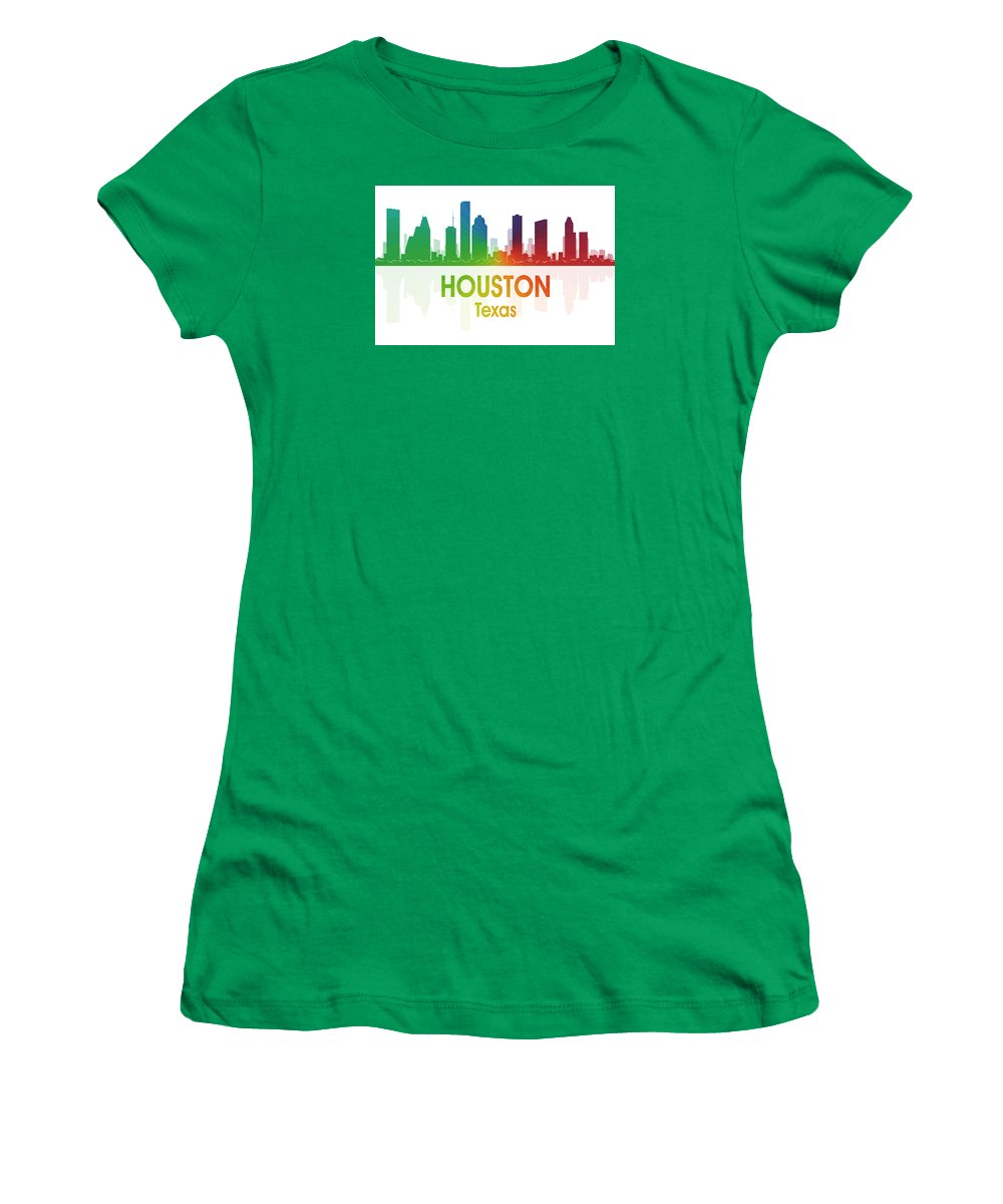 Houston Women's T-Shirt featuring the mixed media Houston Tx by Angelina Tamez